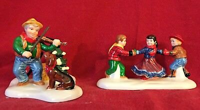 At the Barn Dance Its Allemande Left Dept 56 Snow Village 54929 Christmas city A