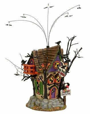 Poe's Perch Aviary Dept 56 Snow Village Halloween 4056704 New Animated bats A