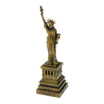15cm The Statue of Liberty Model Figurine Model Metal Crafts Office Ornament