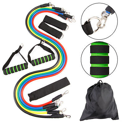 11Pcs Set Multifunctional Rally Pull Rope Muscle Training Resistance Bands HC