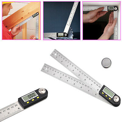 8 Inch Stainless Steel Angle Digital Finder Ruler Protractor With Hold button