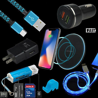 Fast Wall Car Wireless Charger Card Reader Cable For LG G7 ThinQ V40 V35 V30S