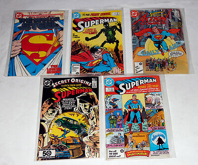 Superman #1 Man Of Steel #1  423 Last Issue -Golden Age #1 Action 583 Key Lot