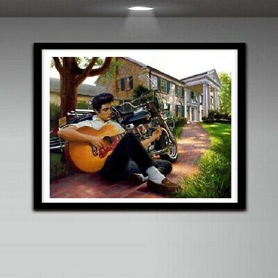 AU Elvis Presley Full Drill 5D Diamond Painting Embroidery Cross Stitch HN