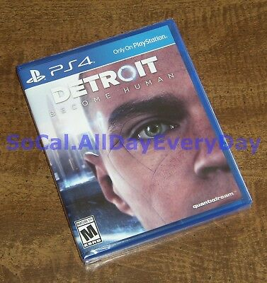 Detroit: Become Human (PlayStation 4) ******BRAND NEW & FACTORY SEALED****** ps4