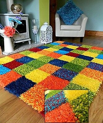 Soft Thick Multi Shaggy Color Bright Rug Modern Heavy Quality Area Bedroom Mat