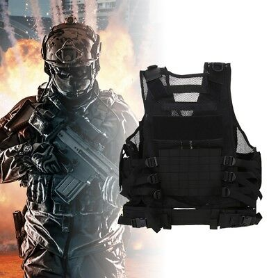 Tactical Vest Military Molle Hunting Paintball Airsoft Muti-Pocket SWAT Jacket