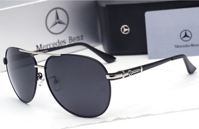 Men Mercedes Driving Polarized Sunglasses Luxury Brand Aviator With Brand Box