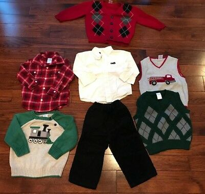 Baby Toddler Boys Lot Of Holiday Christmas Cloths Gymboree Size 12-18 Months