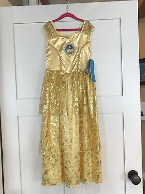 NWT Disney Princess Belle Beauty And The Beast Night Gown Dress Size 9-10 fbab911b7