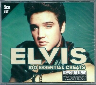 Elvis Presley. Elvis 100 Essential Creats (2013) BOX 5 CD NUOVO Don't be cruel