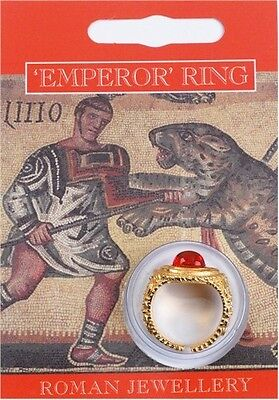 Roman Emperor's Gold Gem Ring - History Theatre / Fancy Dress
