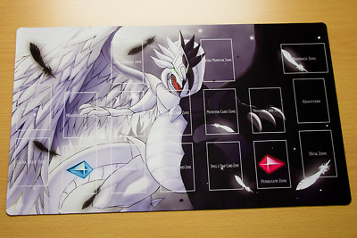 F3321+ Free Mat Bag Light And Darkness Dragon Yugioh TCG Playmat With Zones