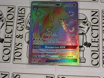 Cartes Pokemon Ultra Rare Dracolosse Gx Sm156 Sl7.5 Majeste Dragon  Neuf Vf
