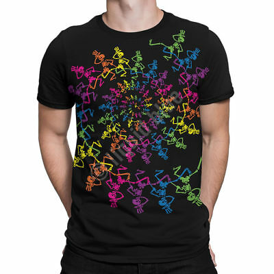 Spiral Skeletons Grateful Dead Officially Licensed Graphic Tee by Liquid Blue
