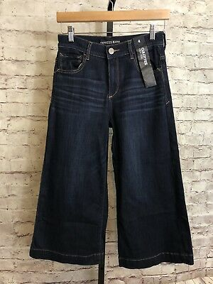 Express Jeans - Women's Crop High Rise Culottes - Tag Size 4 Inseam 22 NWT $69