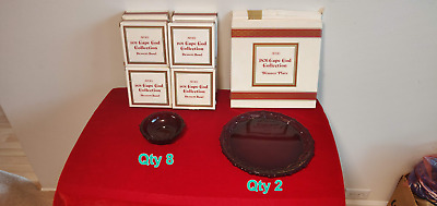 Avon 1876 Cape Cod Ruby Red Collection (2) Dinner Plates & (8) Desert Bowls