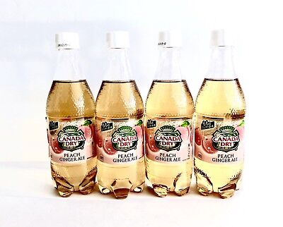 Pack Of 4 Japan Limited Drink Canada Dry Peach Ginger Ale 500ml Soda US SELLER