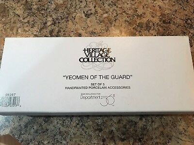 Dept 56 58397 Yeomen Of The Guard (Set Of 5) Heritage Village Access