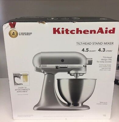 KITCHENAID 4.5 QUART Tilt-Head Stand Mixer, Silver (KSM88SL)