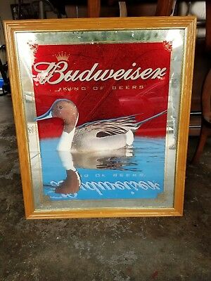 Budweiser wildlife duck beer mirror sign