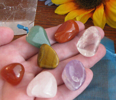 "New Chakra ""Tranquility"" Crystal Healing Natural Gemstone Set of 7 Stones"
