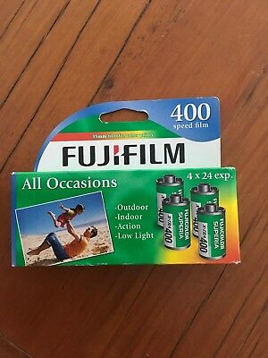 Film 35mm, Fujicolor 400 24exp, colour (expiry August 2017), Pack of 4, cheap