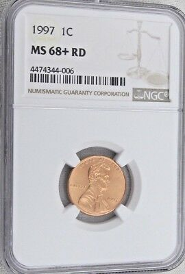 1997 Lincoln Memorial Cent/Penny - NGC MS 68+ RD (4-006)