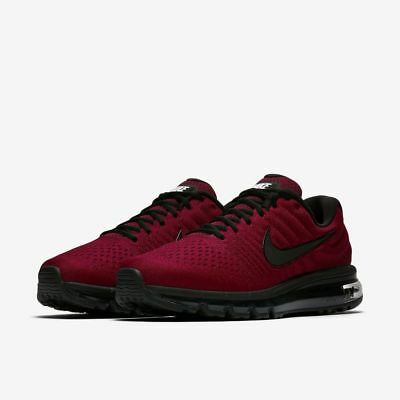 Nike Air Max 2017 Size 10-14 Team Red Black Dark Grey 849559 603