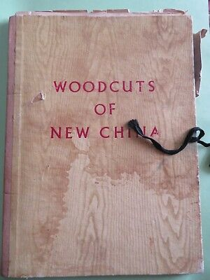 1956 Woodcuts of New China 40 plates Album Pub. Foreign Languages Press Peaking