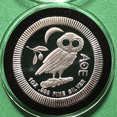 2017 AOE Owl Niue $2 Collectible Coin 1 Troy Oz .999 Fine Silver Proof Round 999