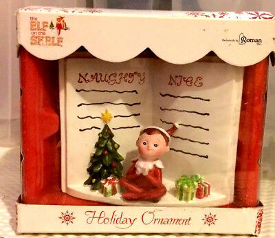 Elf on the Shelf Christmas Holiday Ornament by Roman NEW in Box Boy