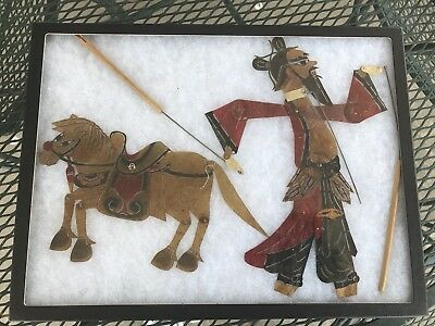 Four-Shadow/Puppet, Theatre Figures, Made In China, Antique. VGC.