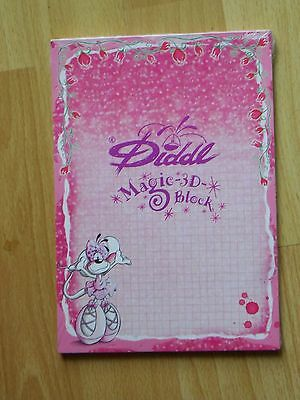 Diddl Block Notizblock A5 Nr.303 Diddlina Ballerina - Magic 3D Block  - Neu &OVP