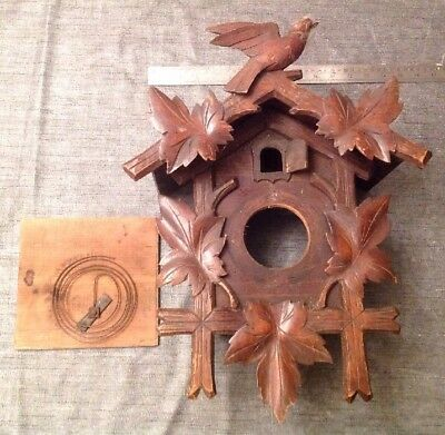 Antique Cuckoo Clock Case 470x360x200mm Clockmakers Spare Part Collection