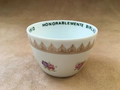 VTG Honorablemente Birlado De (The) Palace Hotel Madrid Spain Chin Unhandled Cup