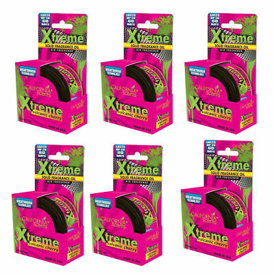 6 x California Scents XTREME Fragrance Air Freshener Car Home VOLCANIC CHERRY