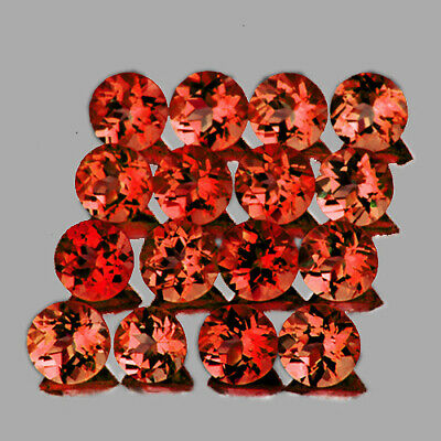 3.0mm ROUND MACHINE CUT 20 PCS NATURAL AAA+ ORANGE RED MOZAMBIQUE GARNET [IF-VVS