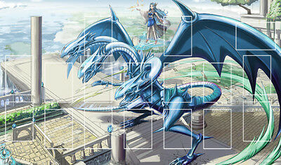 F2197+ Free Mat Bag Blue Eyes Ultimate Dragon Playmat Yugioh TCG Play Mat Zones