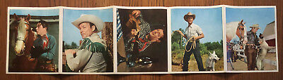 "RARE 1949 & 1950 ROY ROGERS 5 Premium PHOTOS (8.5 x 6.75"") from DELL COMIC CLUB"