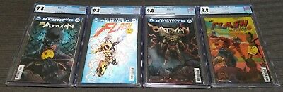 Batman and Flash  21 and 22 The Button Lenticular Variant Cover CGC 9.8 Lot of 4