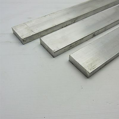 ".75"" x 3"" Aluminum Solid 6061 FLAT BAR 9.625""Long mill stock Pieces 3 sku L511"