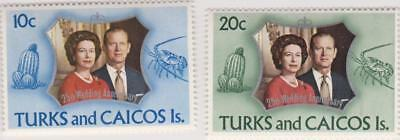 MNH stamps from Turks & Caicos Island dated 1972 - Queen Elizabeth II Anniv.