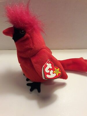 df6d11df478 Beanie Baby MAC With Gasport Error Red Cardinal McGuire Collectable Rare
