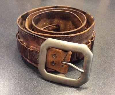 Vintage Maker Marked Shelton Payne, El Paso Texas Western Cartridge Belt