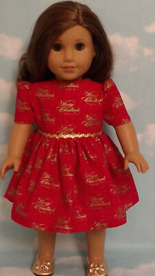 """Christmas Dress Doll Clothes for 18"""" American Girl Doll 70c"""