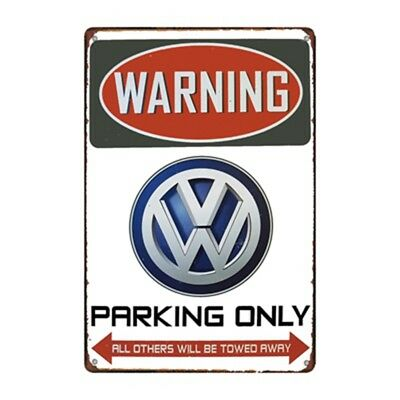 Metal Tin Sign vw parking only Decor Bar Pub Home Vintage Retro Poster