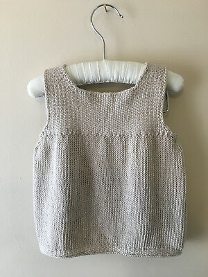Lovely Hand Knitted Vintage Baby Girl Dress