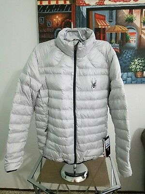 18f17fd7a2140d NWT! Spyder Men's Prymo Down Jacket Size X-Large Silver & Black Zippered  $199