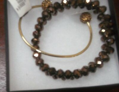 The Limited Set of Two Bronze Bracelets -Stretch and Bangle